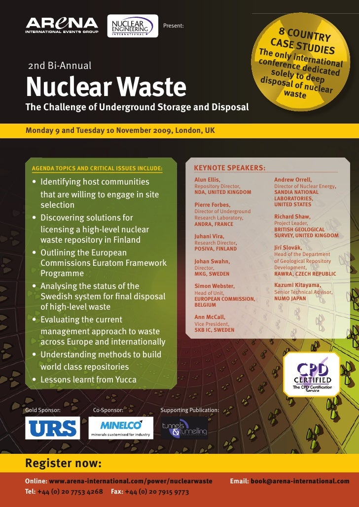 Nuclear Waste: The Challenge of Underground Storage and Disposal