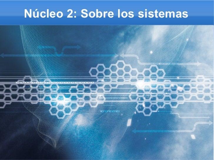 Núcleo 2: Sobre los sistemas