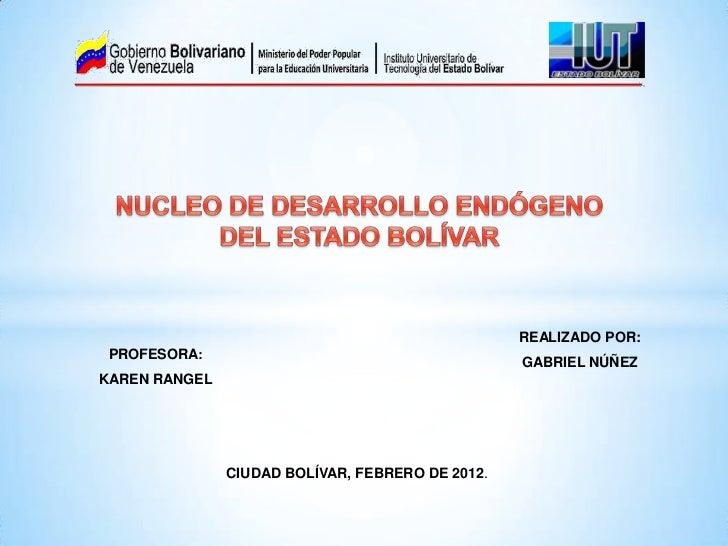 Núcleo de Desarrollo Endógeno del Edo. Bolívar