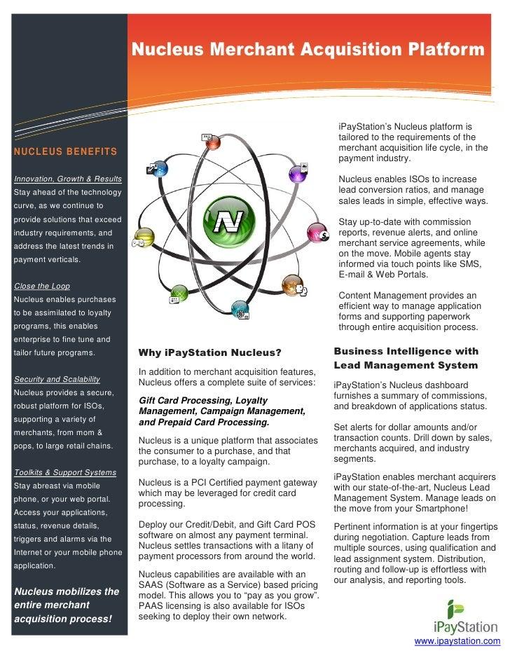 Information Technology Solutions                                 Nucleus Merchant Acquisition Platform                    ...