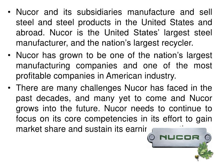 business in nucor essay