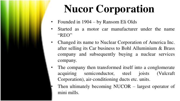 nucor at crossroads case analysis
