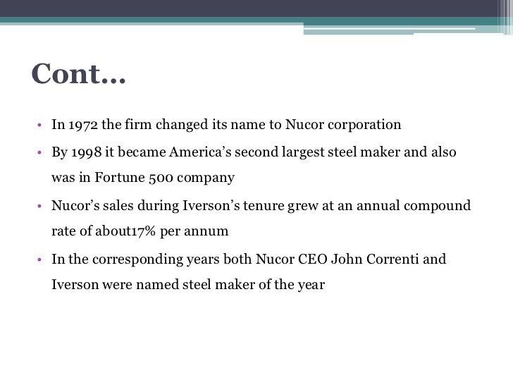 nucor corporation (b) case study Nucor corporation case study analysis explore explore by interests documents similar to nucor corporation analysis skip.