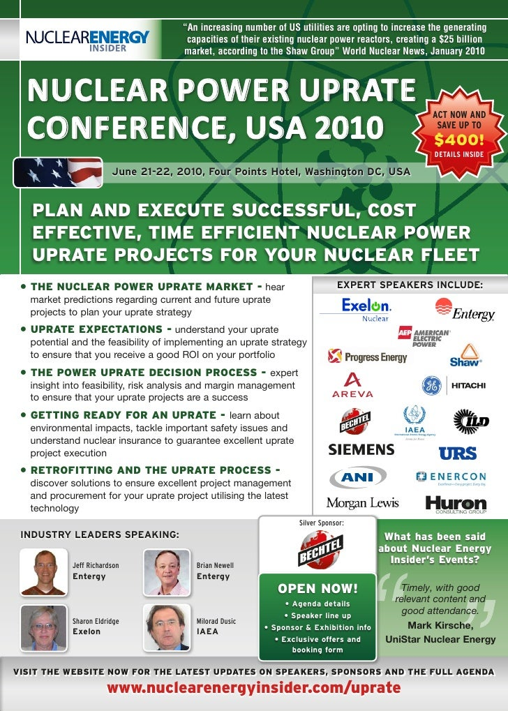 Nuclear Power Uprate Conference