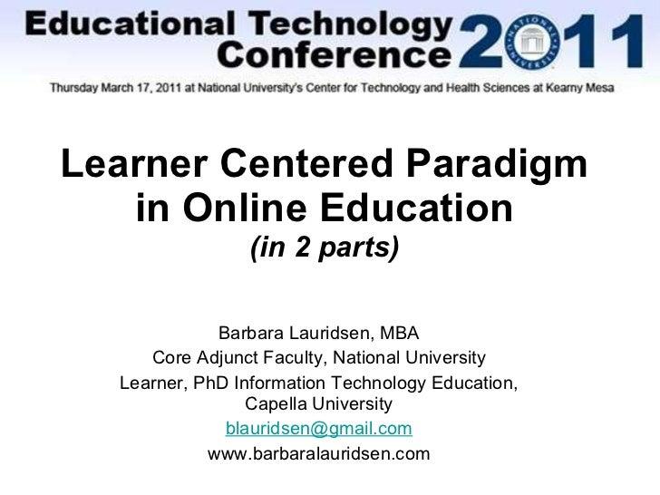NU EdTech LearnerCenteredParadigm Tips 1-6