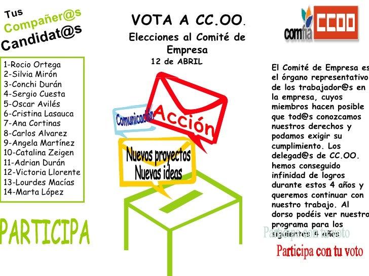 Tus Compañer@s [email_address]   1-Rocio Ortega 2-Silvia Mirón 3-Conchi Durán 4-Sergio Cuesta 5-Oscar Avilés 6-Cristina La...