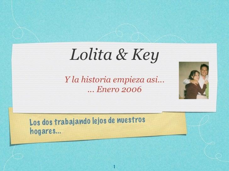 Lolita & Key              Y la historia empieza asi...                     ... Enero 2006Lo s do s tra b a ja n do le jo s...