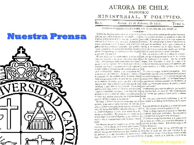 Prof. Eduardo Arriagada C.Nuestra Prensa