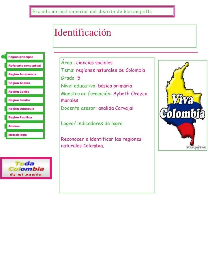 -994410496760547872651329055Área : ciencias sociales Tema: regiones naturales de Colombia Grado: 5Nivel educativo: básica ...