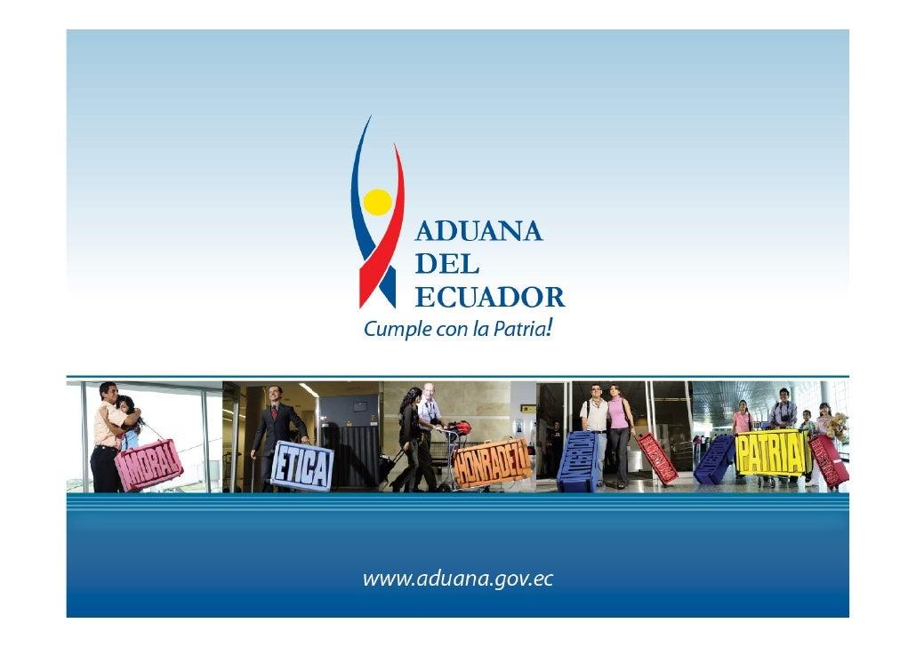 Nueva Ley Organica De Aduanas Del Ecuador