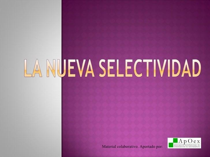 Nueva Selectividad Extremadura