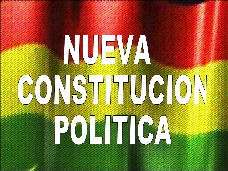 NUEVA CONSTITUCION POLITICA