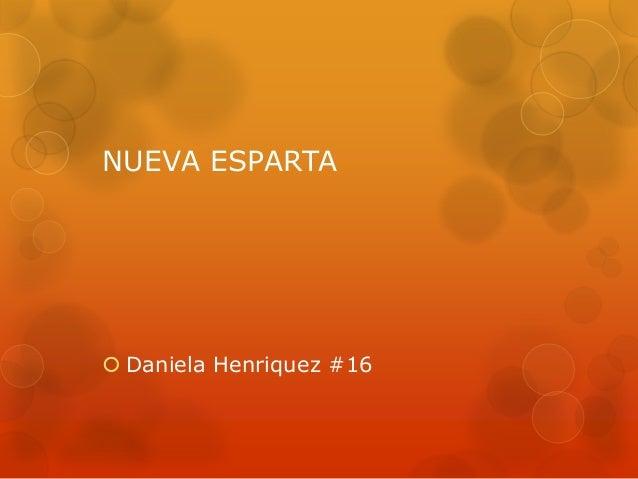 NUEVA ESPARTA Daniela Henriquez #16