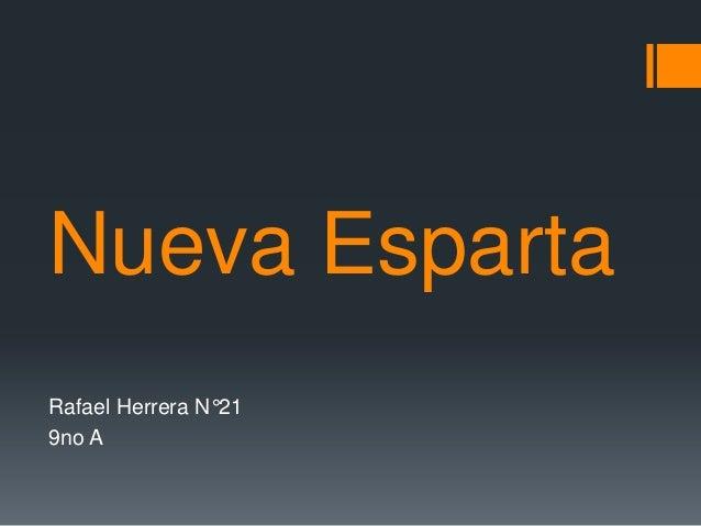 Nueva Esparta Rafael Herrera N°21 9no A