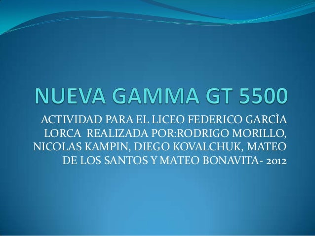 ACTIVIDAD PARA EL LICEO FEDERICO GARCÌA  LORCA REALIZADA POR:RODRIGO MORILLO,NICOLAS KAMPIN, DIEGO KOVALCHUK, MATEO    DE ...