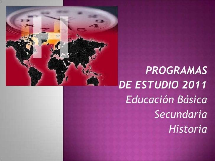 Programa de Historia.