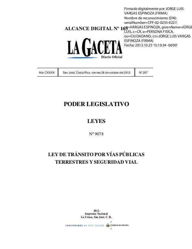 Nueva ley de Tránsito De Costa Rica