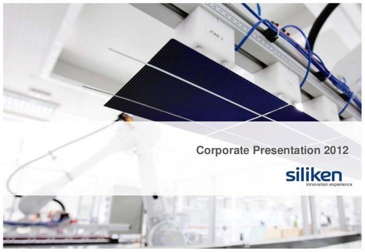 Corporate Presentation 2012