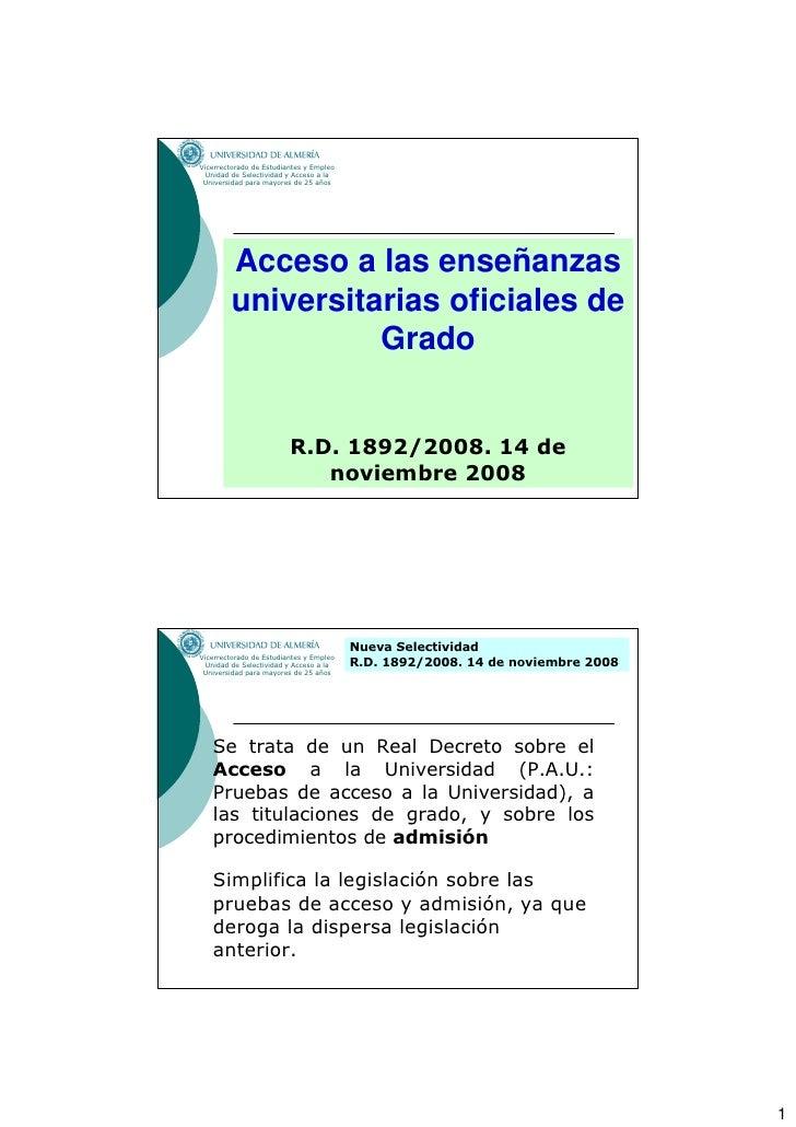 Vicerrectorado de Estudiantes y Empleo   Unidad de Selectividad y Acceso a la  Universidad para mayores de 25 años        ...