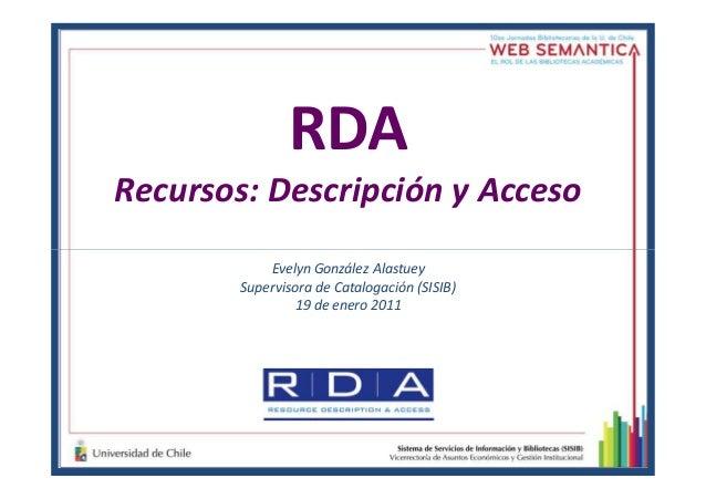Nuevas normas de catalogación:  RDA