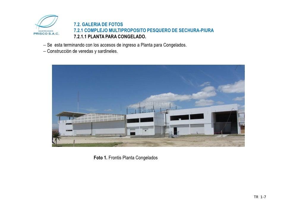 7.2. GALERIA DE FOTOS               7.2.1 COMPLEJO MULTIPROPOSITO PESQUERO DE SECHURA-PIURA               7.2.1.1 PLANTA P...