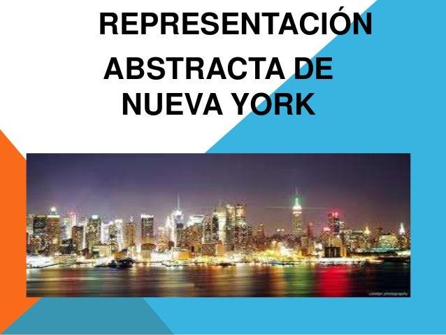 REPRESENTACIÓNABSTRACTA DE NUEVA YORK