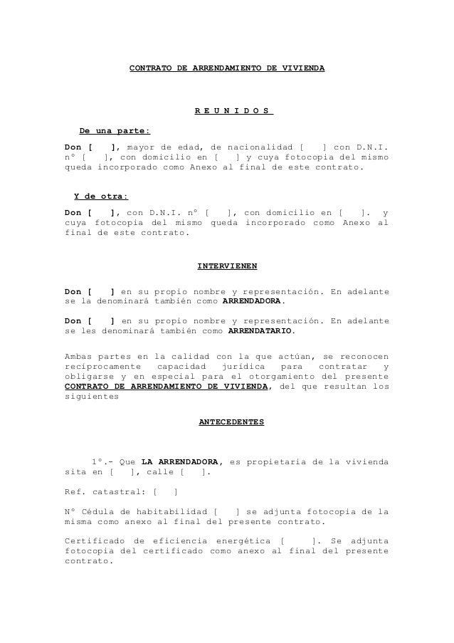 Formato De Arrendamiento 2015