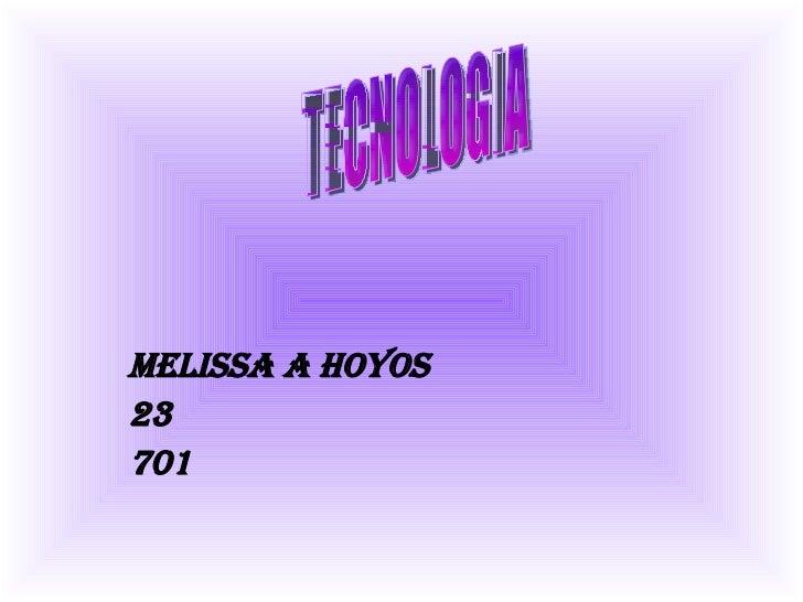 Melissa A Hoyos 23 701 TECNOLOGIA