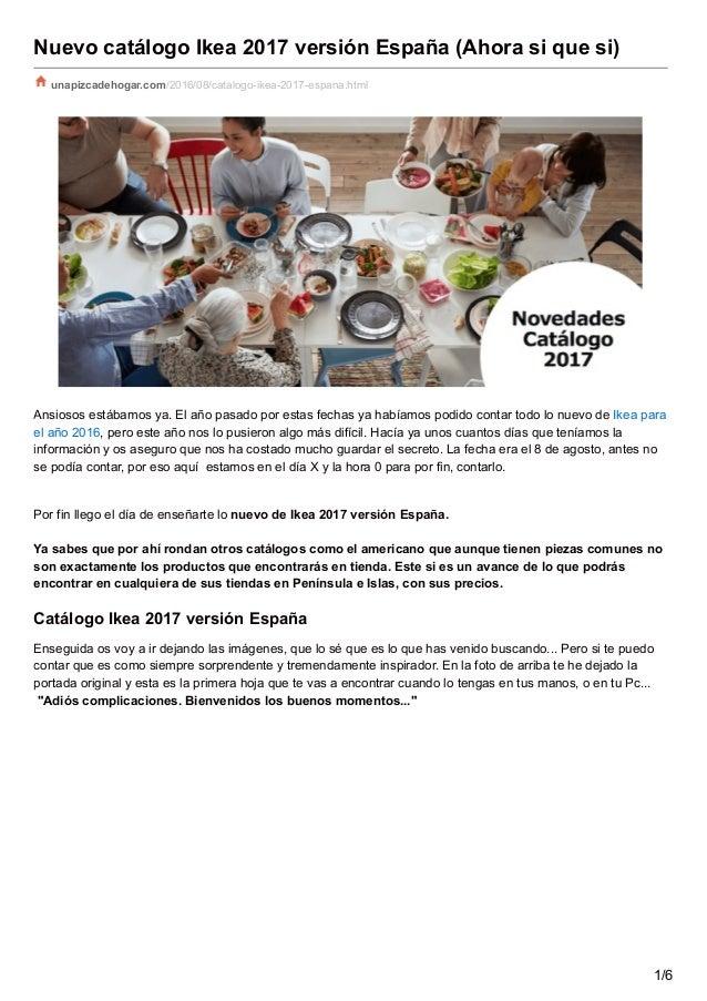 nuevo catalogo ikea version espana ahora si que si
