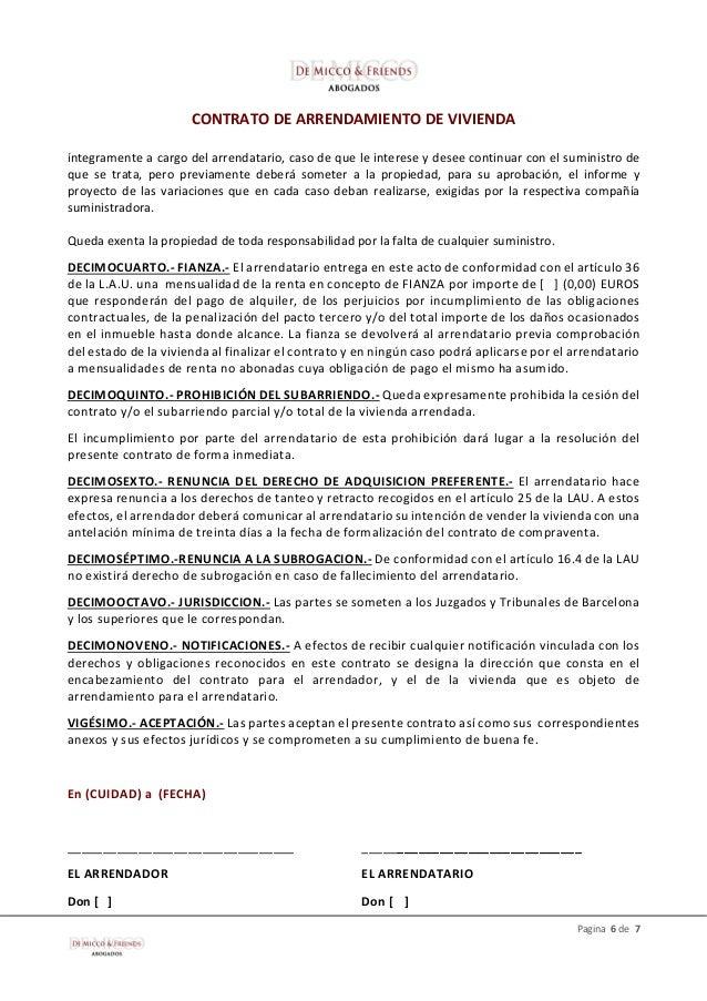 modelo contrato de alquiler de vivienda 2015 nuevo