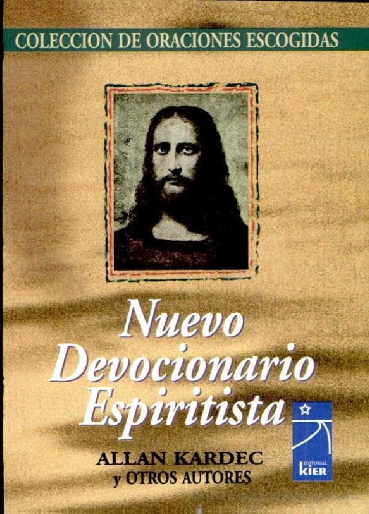 Nuevo devocionario espiritista escrito por allan kardec