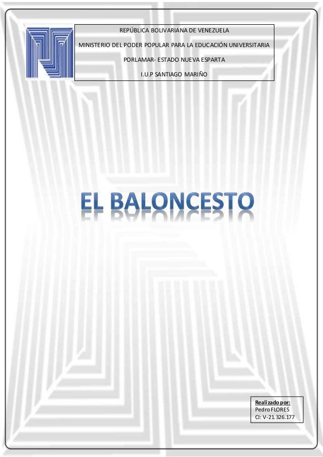 REPÚBLICA BOLIVARIANA DE VENEZUELA MINISTERIO DEL PODER POPULAR PARA LA EDUCACIÓN UNIVERSITARIA PORLAMAR- ESTADO NUEVA ESP...