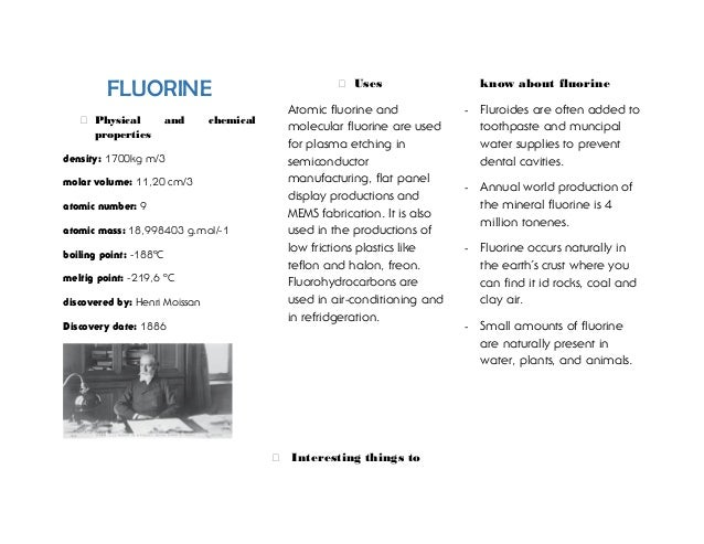 what are some physical properties of fluorine