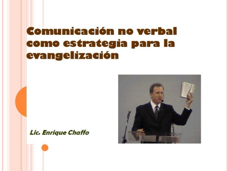 Comunicación no verbal como estrategia para la evangelización