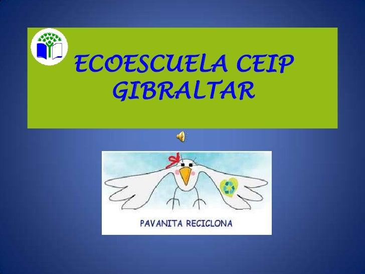 ECOESCUELA CEIP  GIBRALTAR