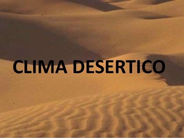 CLIMA DESERTICO