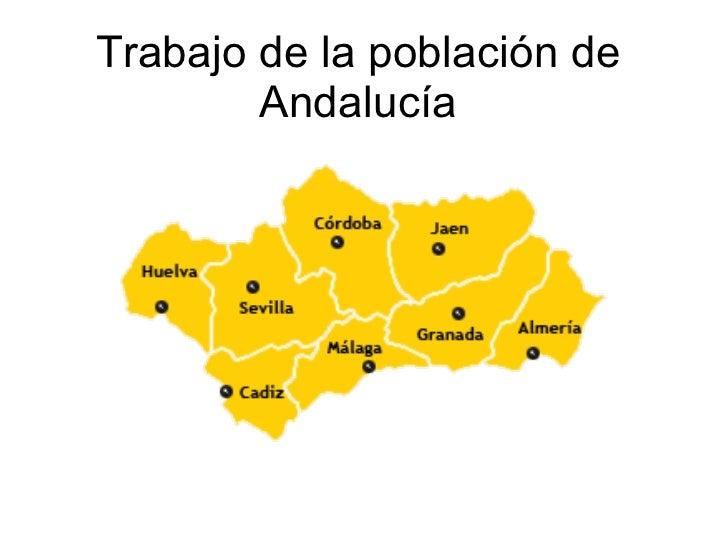 Trabajo de la población de Andalucía