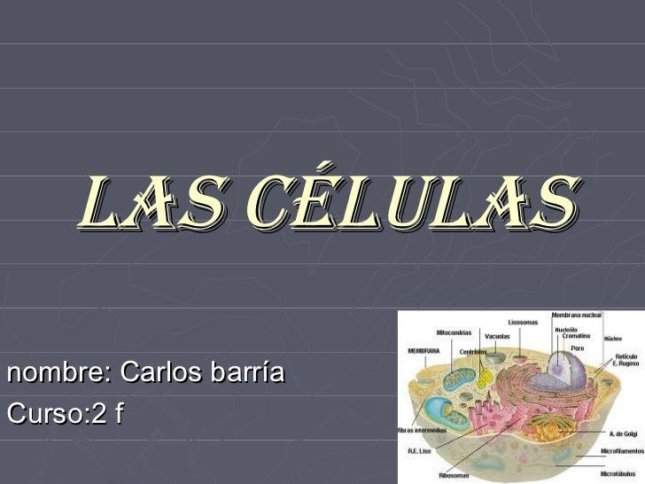 Las céLuLasnombre: Carlos barríaCurso:2 f