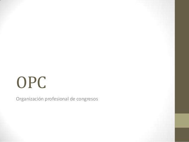 OPC Organización profesional de congresos