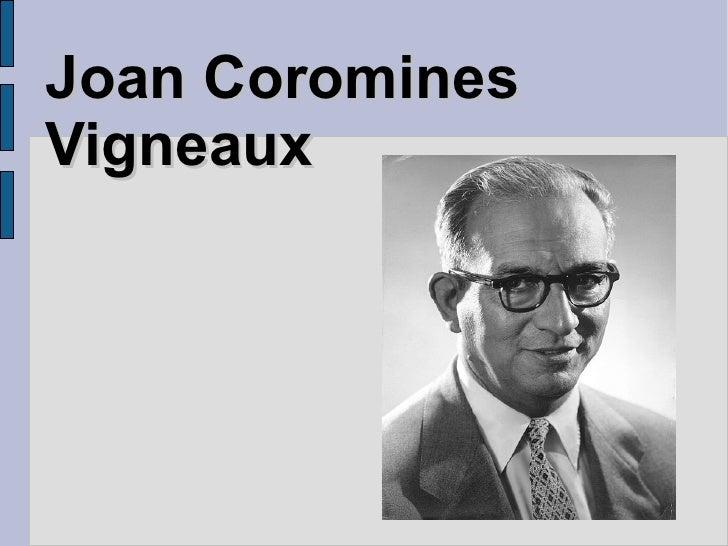 Joan Coromines Vigneaux