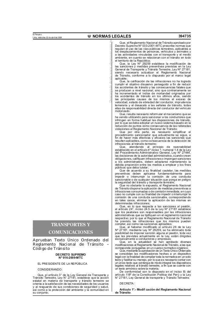 Nuevo reglamento nacional de  transito   2009[1]