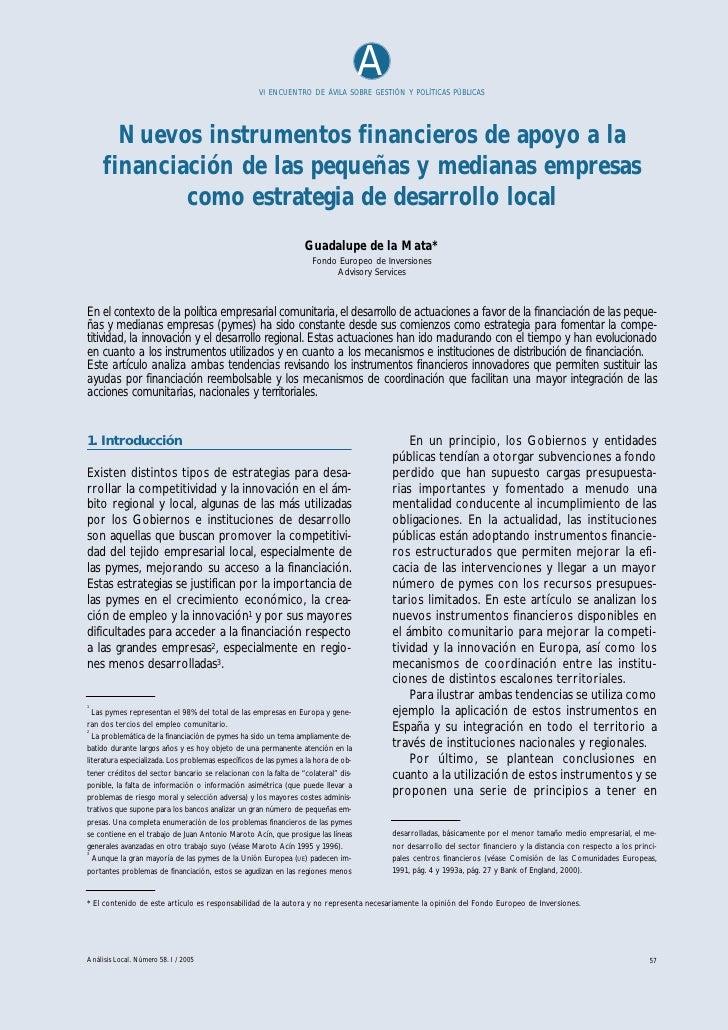 Nuevos instrumentos financieros-paper-guadalupe-delamata