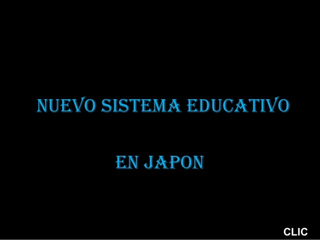 Nuevo sistema educativo