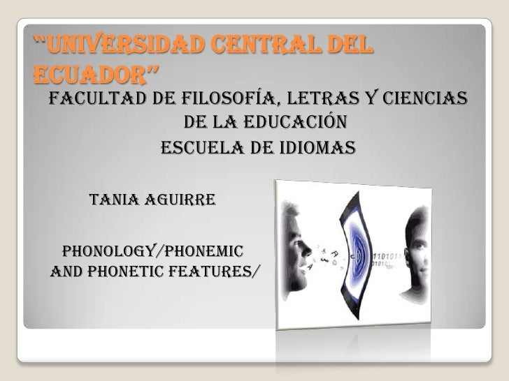 PHONOLOGY BY TANIA AGUIRRE