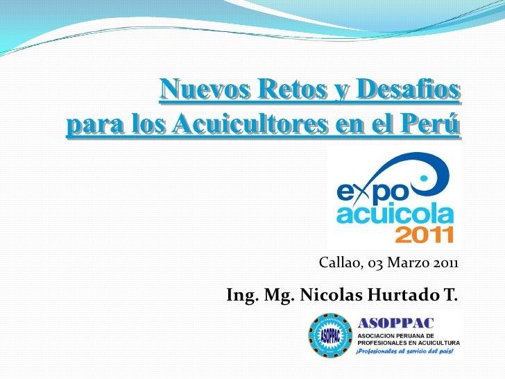 Callao, 03 Marzo 2011Ing. Mg. Nicolas Hurtado T.
