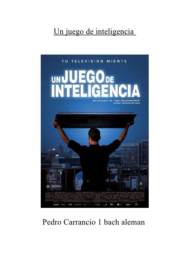 Un juego de inteligenciaPedro Carrancio 1 bach aleman
