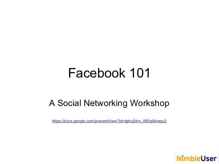 NU  FaceBook 101 JCC 2010