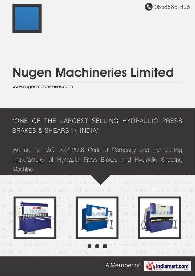 08588851426A Member ofNugen Machineries Limitedwww.nugenmachineries.comFixed Rake Angle Hydraulic Shears CNC Synchro Hydra...