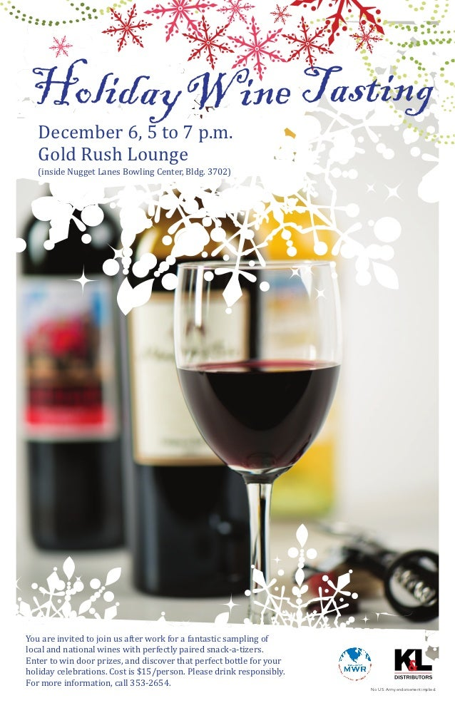 December 6, 5 to 7 p.m.   Gold Rush Lounge   (inside Nugget Lanes Bowling Center, Bldg. 3702)You are invited to join us af...