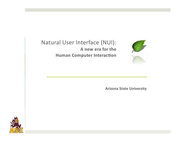 201004 - Natural User Interfaces